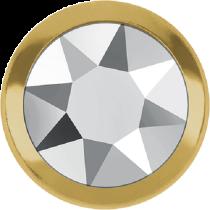 Swarovski Crystal Flatback Hotfix 2078 H Rimmed Flat Back SS-20  ( 4.70mm)  Crystal Light Chrome GR (F) -  1440 Pcs