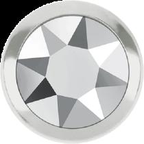 Swarovski Crystal Flatback Hotfix 2078 H Rimmed Flat Back SS-16  ( 3.90mm)  Crystal Light Chrome SR (F) -  1440 Pcs