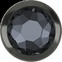 Swarovski Crystal Flatback Hotfix 2078 H Rimmed Flat Back SS-16  ( 3.90mm)  Crystal Silver Night GM (F) -  1440 Pcs
