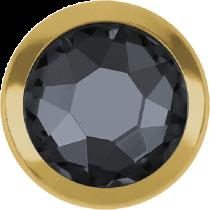 Swarovski Crystal Flatback Hotfix 2078 H Rimmed Flat Back SS-16  ( 3.90mm)  Crystal Silver Night GR (F) -  1440 Pcs