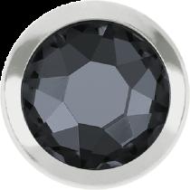 Swarovski Crystal Flatback Hotfix 2078 H Rimmed Flat Back SS-20  ( 4.70mm)  Crystal Silver Night SR (F) -  1440 Pcs