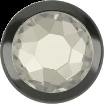 Swarovski Crystal Flatback Hotfix 2078 H Rimmed Flat Back SS-16  ( 3.90mm)  Crystal Silver Shade GM (F) -  1440 Pcs