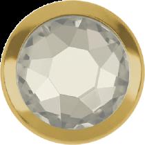 Swarovski Crystal Flatback Hotfix 2078 H Rimmed Flat Back SS-16  ( 3.90mm)  Crystal Silver Shade GR (F) -  1440 Pcs