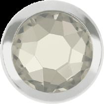 Swarovski Crystal Flatback Hotfix 2078 H Rimmed Flat Back SS-16  ( 3.90mm)  Crystal Silver Shade SR (F) -  1440 Pcs