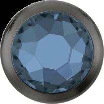 Swarovski Crystal Flatback Hotfix 2078 H Rimmed Flat Back SS-16  ( 3.90mm)  Denim Blue GM (F) -  1440 Pcs