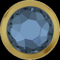 Swarovski Crystal Flatback Hotfix 2078 H Rimmed Flat Back SS-16  ( 3.90mm)  Denim Blue GR (F) -  1440 Pcs