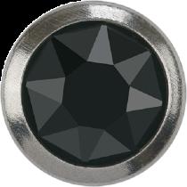 Swarovski Crystal Flatback Hotfix 2078 H Rimmed Flat Back SS-16  ( 3.90mm)  Jet Hematite SR (F) -  1440 Pcs