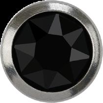 Swarovski Crystal Flatback Hotfix 2078 H Rimmed Flat Back SS-34  ( 7.17mm)  Jet SR (F) -  144 Pcs