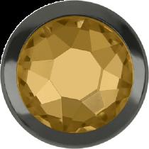 Swarovski Crystal Flatback Hotfix 2078 H Rimmed Flat Back SS-20  ( 4.70mm)  Light Colorado Topaz GM (F) -  1440 Pcs