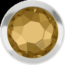 Swarovski Crystal Flatback Hotfix 2078 H Rimmed Flat Back SS-16  ( 3.90mm)  Light Colorado Topaz SR (F) -  1440 Pcs