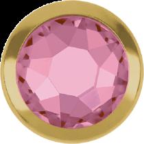 Swarovski Crystal Flatback Hotfix 2078 H Rimmed Flat Back SS-16  ( 3.90mm)  Light Rose GR (F) -  1440 Pcs