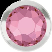 Swarovski Crystal Flatback Hotfix 2078 H Rimmed Flat Back SS-16  ( 3.90mm)  Light Rose SR (F) -  1440 Pcs
