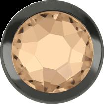 Swarovski Crystal Flatback Hotfix 2078 H Rimmed Flat Back SS-16  ( 3.90mm)  Silk GM (F) -  1440 Pcs