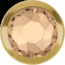 Swarovski Crystal Flatback Hotfix 2078 H Rimmed Flat Back SS-16  ( 3.90mm)  Silk GR (F) -  1440 Pcs