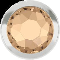 Swarovski Crystal Flatback Hotfix 2078 H Rimmed Flat Back SS-16  ( 3.90mm)  Silk SR (F) -  1440 Pcs