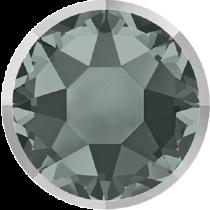 Swarovski Crystal Flatback Hotfix 2078 I Rimmed Flat Back SS-34  ( 7.17mm) Black Diamond Light Chrome (F) -  144 Pcs