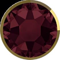 Swarovski Crystal Flatback Hotfix 2078 I Rimmed Flat Back SS-34  ( 7.17mm) Burgundy Dorado (F) -  144 Pcs