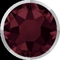 Swarovski Crystal Flatback Hotfix 2078 I Rimmed Flat Back SS-34  ( 7.17mm) Burgundy Light Chrome (F) -  144 Pcs