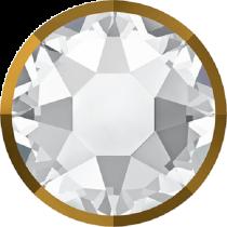 Swarovski Crystal Flatback Hotfix 2078 I Rimmed Flat Back SS-34  ( 7.17mm)  ( 7.17mm) Crystal Dorado (F) -  144 Pcs