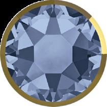 Swarovski Crystal Flatback Hotfix 2078 I Rimmed Flat Back SS-34  ( 7.17mm) Denim Blue Dorado (F) -  144 Pcs