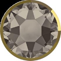Swarovski Crystal Flatback Hotfix 2078 I Rimmed Flat Back SS-34  ( 7.17mm) Greige Dorado (F) -  144 Pcs