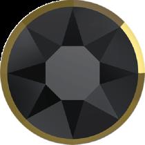 Swarovski Crystal Flatback Hotfix 2078 I Rimmed Flat Back SS-34  ( 7.17mm) Jet Dorado (F) -  144 Pcs