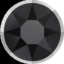 Swarovski Crystal Flatback Hotfix 2078 I Rimmed Flat Back SS-34  ( 7.17mm) Jet Light Chrome (F) -  144 Pcs