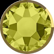 Swarovski Crystal Flatback Hotfix 2078 I Rimmed Flat Back SS-34  ( 7.17mm) Khaki Dorado (F) -  144 Pcs