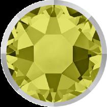 Swarovski Crystal Flatback Hotfix 2078 I Rimmed Flat Back SS-34  ( 7.17mm) Khaki Light Chrome (F) -  144 Pcs