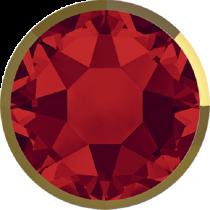 Swarovski Crystal Flatback Hotfix 2078 I Rimmed Flat Back SS-34  ( 7.17mm) Light Siam Dorado (F) -  144 Pcs