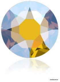 Swarovski Crystal Flatback Hotfix  2078- SS-34(7.1mm)-Lt. Topaz Shimmer- 144 Pcs.