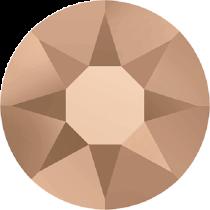 Swarovski Crystal Flatback Hotfix 2078 SS-34 ( 7.17mm) - ᅠCrystal Rose Gold (F)- 144 Pcs