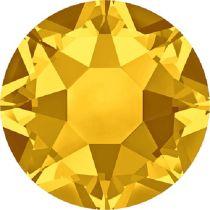 Swarovski Crystal Flatback Hotfix 2078 SS-16 ( 3.90mm) -Light Topaz (F)- 1440 Pcs
