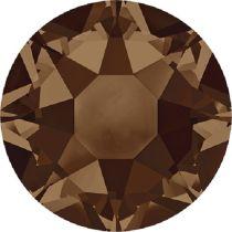 Swarovski Crystal Flatback Hotfix 2078 SS-16 ( 3.90mm) - Smoked Topaz (F)- 1440 Pcs