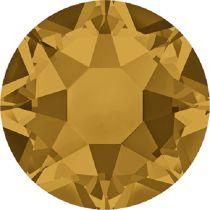 Swarovski Crystal Flatback Hotfix 2078 SS-16 ( 3.90mm) - Topaz  (F)- 1440 Pcs