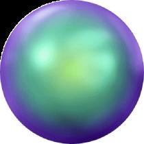 Swarovski Crystal Flat Back Hotfix 2080_4 Pearl Cabochons Flat Back SS-34  ( 7.17mm) - Crystal Scarabaeus Green  (F) - 144 Pcs