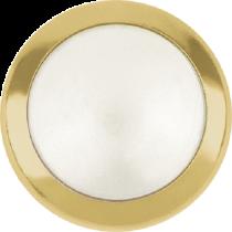 Swarovski Crystal Flatback Hotfix 2080 H Rimmed Flat Back  SS-34  (7.17mm) Crystal White Pearl GR (F) -  144 Pcs