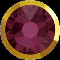 Swarovski Crystal Flatback No Hotfix 2088 I Rimmed Flat Back SS-16  Burgundy Dorado (F) -  1440 Pcs