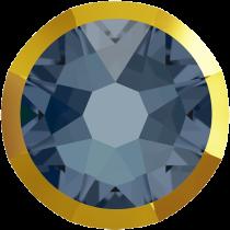 Swarovski Crystal Flatback No Hotfix 2088 I Rimmed Flat Back SS-16  Denim Blue Dorado (F) -  1440 Pcs