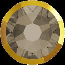 Swarovski Crystal Flatback No Hotfix 2088 I Rimmed Flat Back SS-20  Greige Dorado (F) -  1440 Pcs
