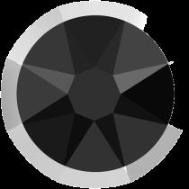 Swarovski Crystal Flatback No Hotfix 2088 I Rimmed Flat Back SS-16  Jet Light Chrome (F) -  1440 Pcs