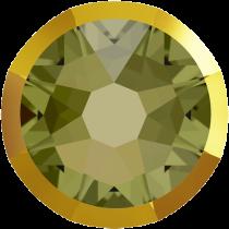 Swarovski Crystal Flatback No Hotfix 2088 I Rimmed Flat Back SS-16  Khaki Dorado (F) -  1440 Pcs