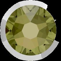Swarovski Crystal Flatback No Hotfix 2088 I Rimmed Flat Back SS-16  Khaki Light Chrome (F) -  1440 Pcs