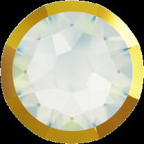Swarovski Crystal Flatback No Hotfix 2088 I Rimmed Flat Back SS-16 White Opal Dorado (F) -  1440 Pcs
