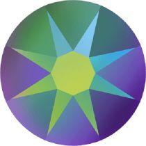 Swarovski Crystal Flatback No Hotfix 2088 SS-34 ( 7.17mm) -ᅠCrystal Scarabaeus Green (F) - 144 Pcs