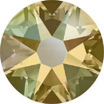 Swarovski Crystal Flatback No Hotfix 2088 SS-30 ( 6.34mm) - ᅠLight Colorado Topaz Shimmer (F)- 288 Pcs