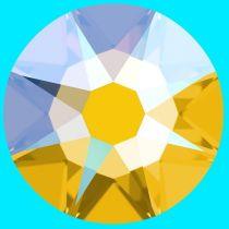 Swarovski Crystal Flatback No Hotfix 2088 SS-12 ( 3.10mm) -ᅠᅠLight Topaz Shimmer  (F)-  1440 Pcs
