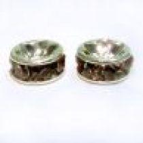 Rondelles Silver base -6mm- Lt.Amethyst