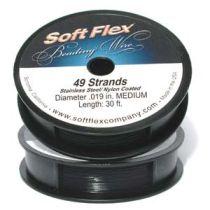 Soft Flex Beading Wire - Medium -Black