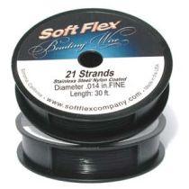 Soft Flex Beading Wire - Fine -Black